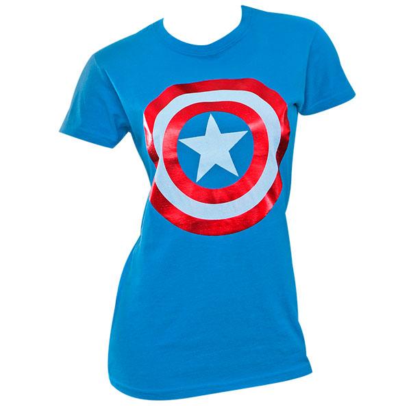 Captain America Shield Logo Women's Shirt