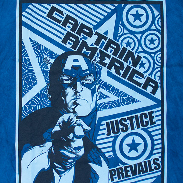 Captain America Justice Prevails Tee - Blue