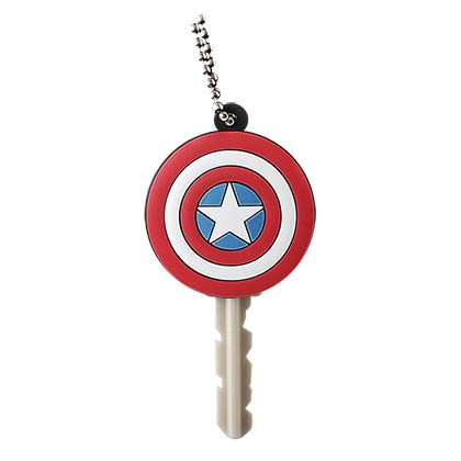 Captain America Comic Rubber Key Holder