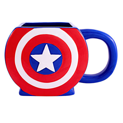 Captain America Blue Shaped Logo Mug