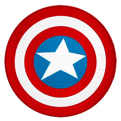 Captain America Iron On 10 Inch Logo Patch