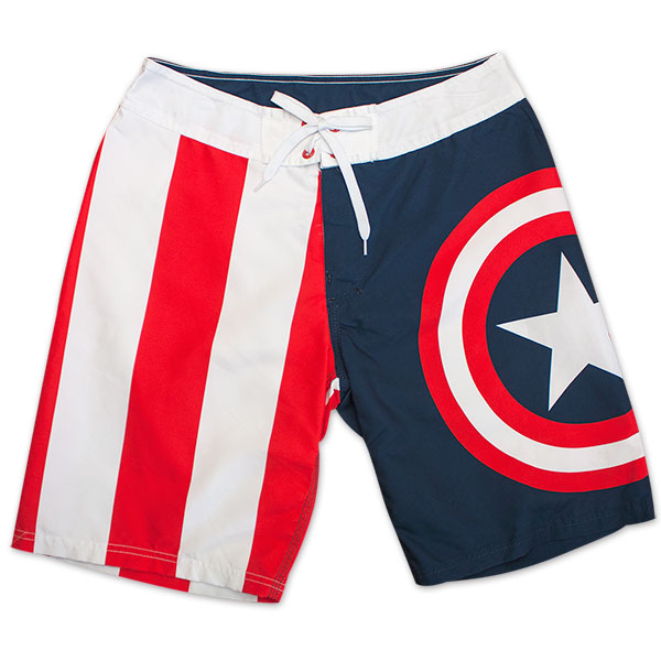 b1b966ef54 item was added to your cart. Item. Price. Captain America Logo Stripes Board  Shorts