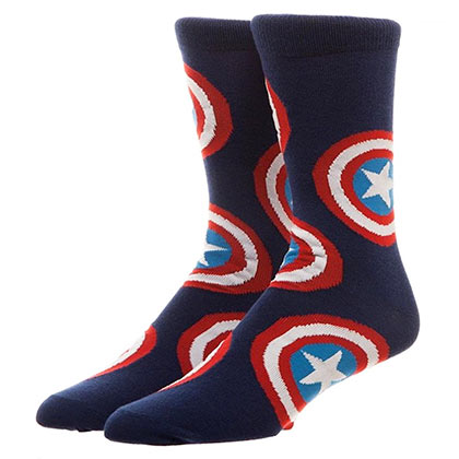 Captain America Crew Socks