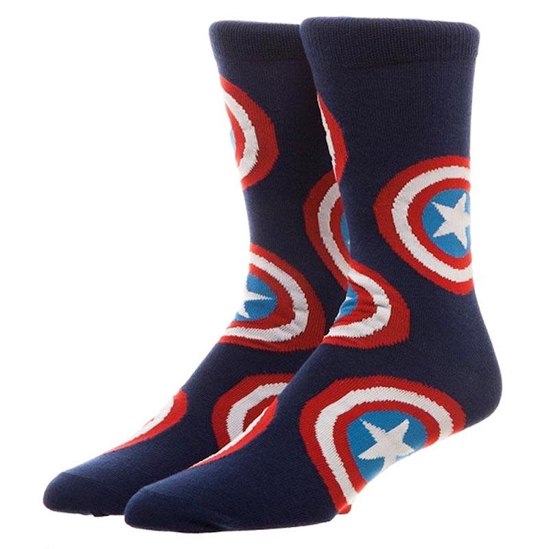Captain America Men's Crew Socks