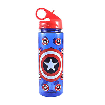 Captain America Plastic Water Bottle