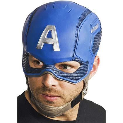 Captain America Blue Superhero Mask
