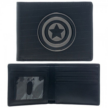 CAPTIAN AMERICA METAL LOGO WALLET PLACEHOLDER