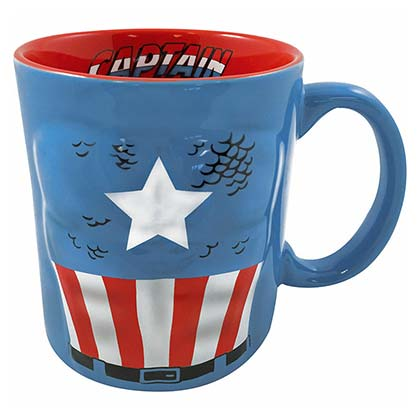 Captain America Blue Molded Muscle Mug