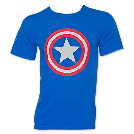 Captain America Royal Blue Shield Logo TShirt