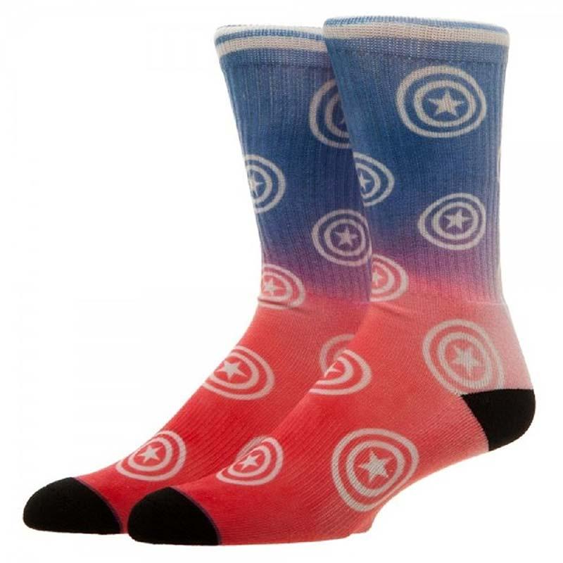 Captain America Patriotic Ombre Crew Socks
