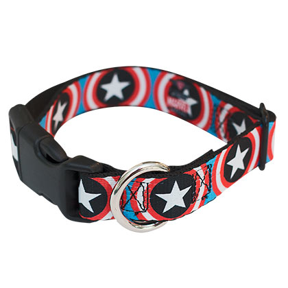 Captain America Pet Collar