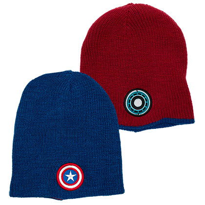Iron Man Captain America Reversible Winter Beanie