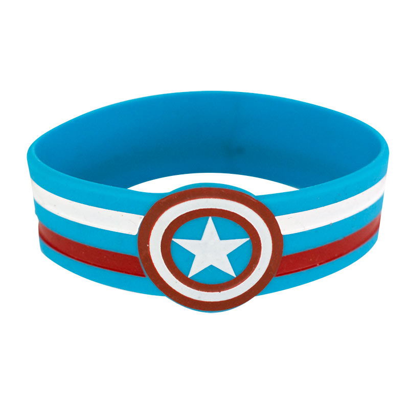 Captain America Rubber Pokeball Bracelet