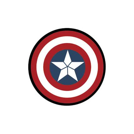 Licensed Captain America Shield Button