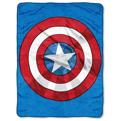 Captain America Super Plush Star Shield Throw Blanket