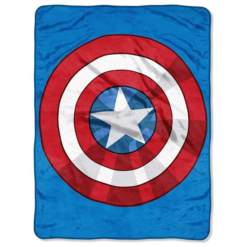 Captain America Shield Super Plush Throw Blanket