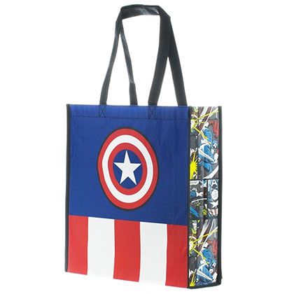 Captain America Polyester Star Logo Tote Bag