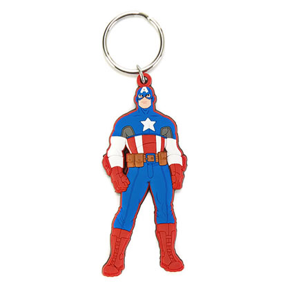 CAPTAIN AMERICA CHARACTER KEYCHAIN PLACEHOLDER
