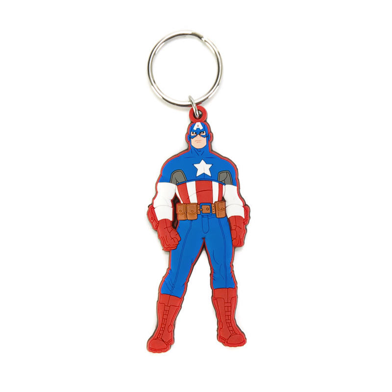 Captain America Comic Rubber Character Keychain