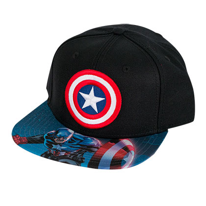 Captain America Sublimated Brim Snapback Hat