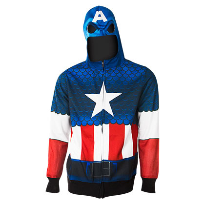 Captain America Sublimated Costume Hoodie