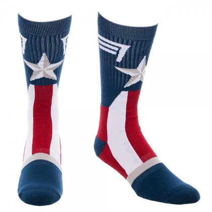 Captain America Costume Crew Socks