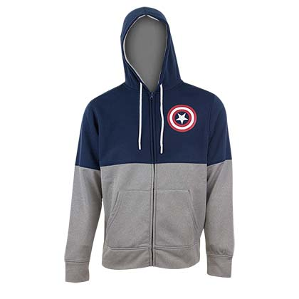 Captain America Men's Two-Tone Hooded Fleece