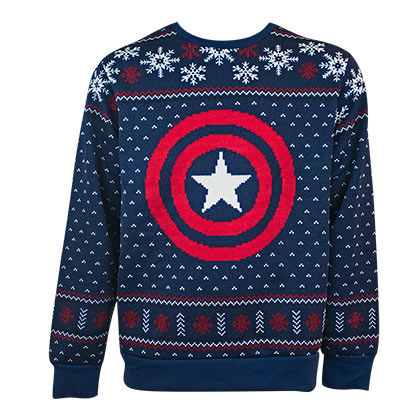 Captain America Holiday Ugly Sweater
