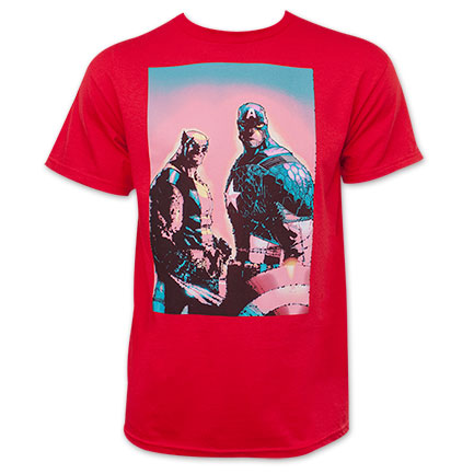 Marvel Men's Captain America Wolverine Red T-Shirt