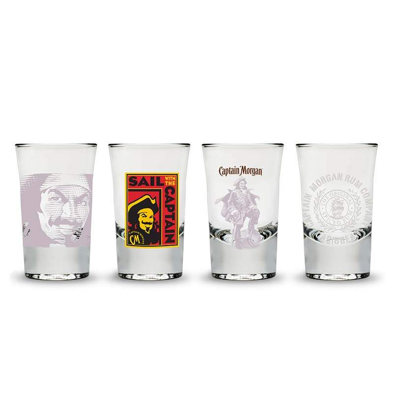 Captain Morgan Shot Glass Set Of Four