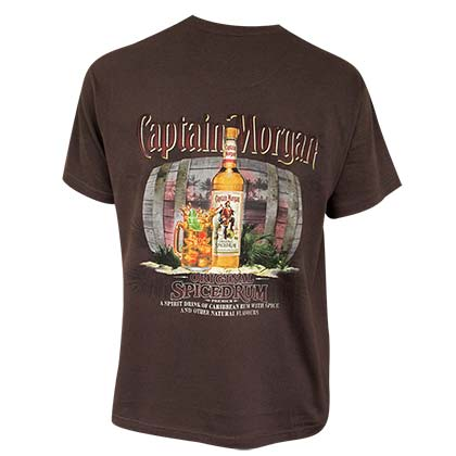 Captain Morgan Men's Brown Spiced Rum T-Shirt