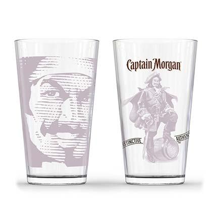 Captain Morgan Tonal Pirate Pint Glass Set