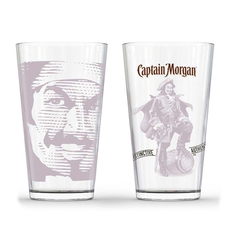 Captain Morgan Tonal Pirate Pint Glass Set