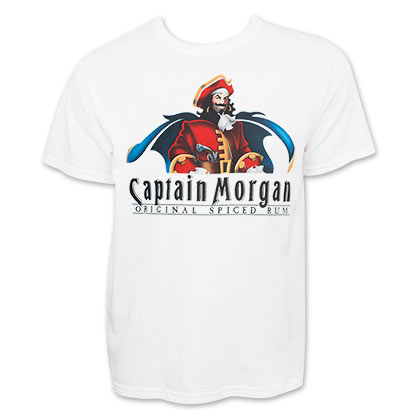 Captain Morgan Men's White Logo T-Shirt