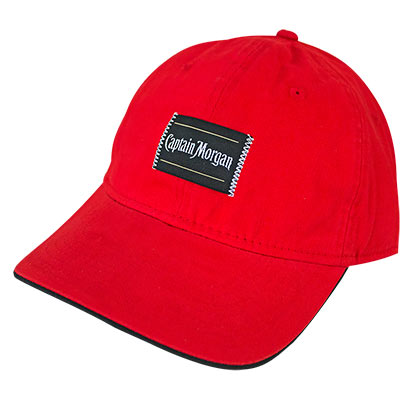 Captain Morgan Basic Patch Men's Red Hat