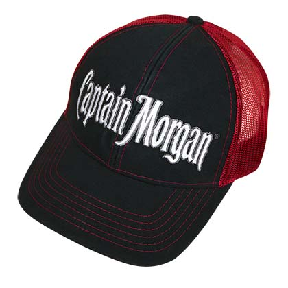 Captain Morgan Red And Black Mesh Trucker Hat