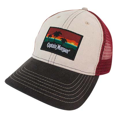 Captain Morgan Mesh Beach Side Snapback Trucker Hat