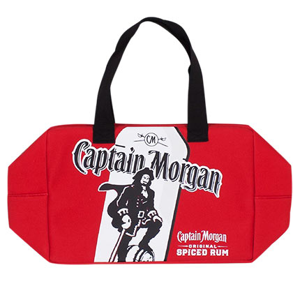 Captain Morgan Treasure Chest Neoprene Red Cooler Bag
