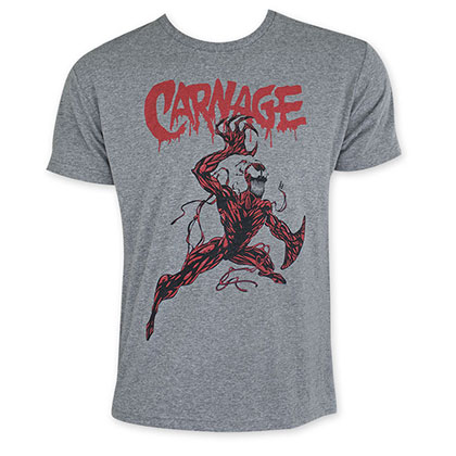 Carnage Men's Gray Tee Shirt