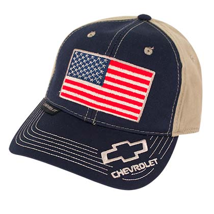 Chevrolet Adjustable American Flag Hat