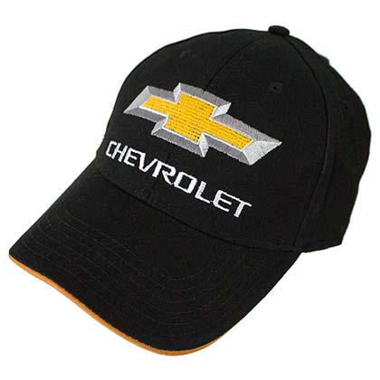Chevrolet Chevy Logo Black Yellow Men's Hat