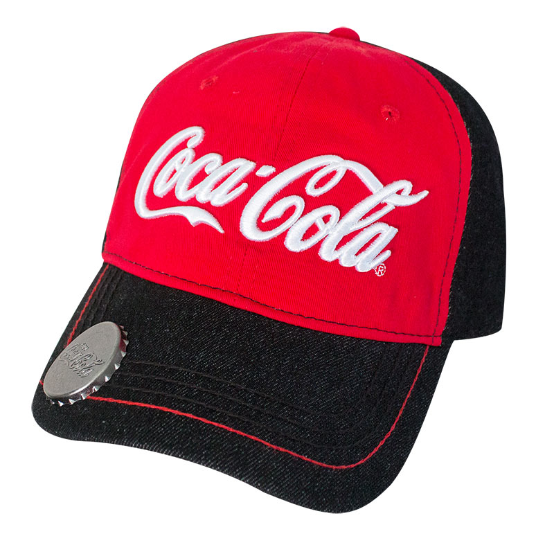 Coca-Cola Red & Black Bottle Opener Hat