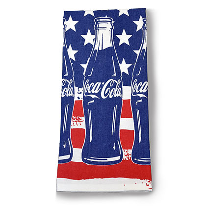 Coca-Cola Patriotic Bottles Dish Tea Towel