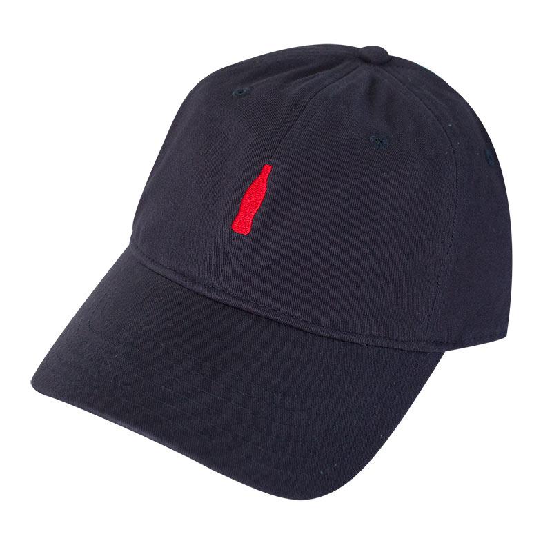 Coca Cola Bottle Logo Navy Blue Dad Hat