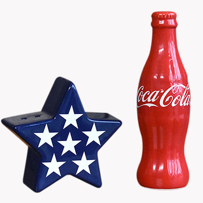 Coca-Cola Patriotic Salt Pepper Shakers Set