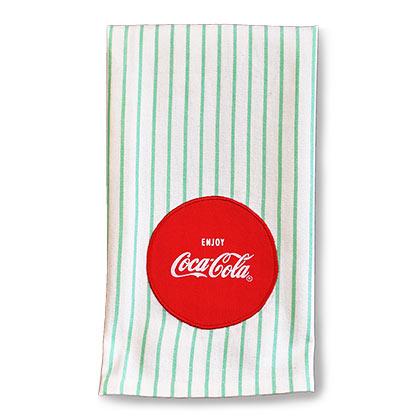 Coca-Cola 1950s Striped Tea Towel
