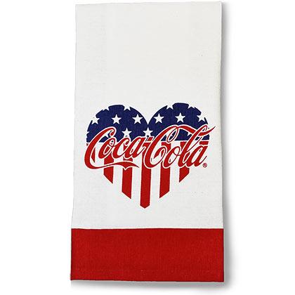 Coca-Cola Patriotic Heart Tea Towel