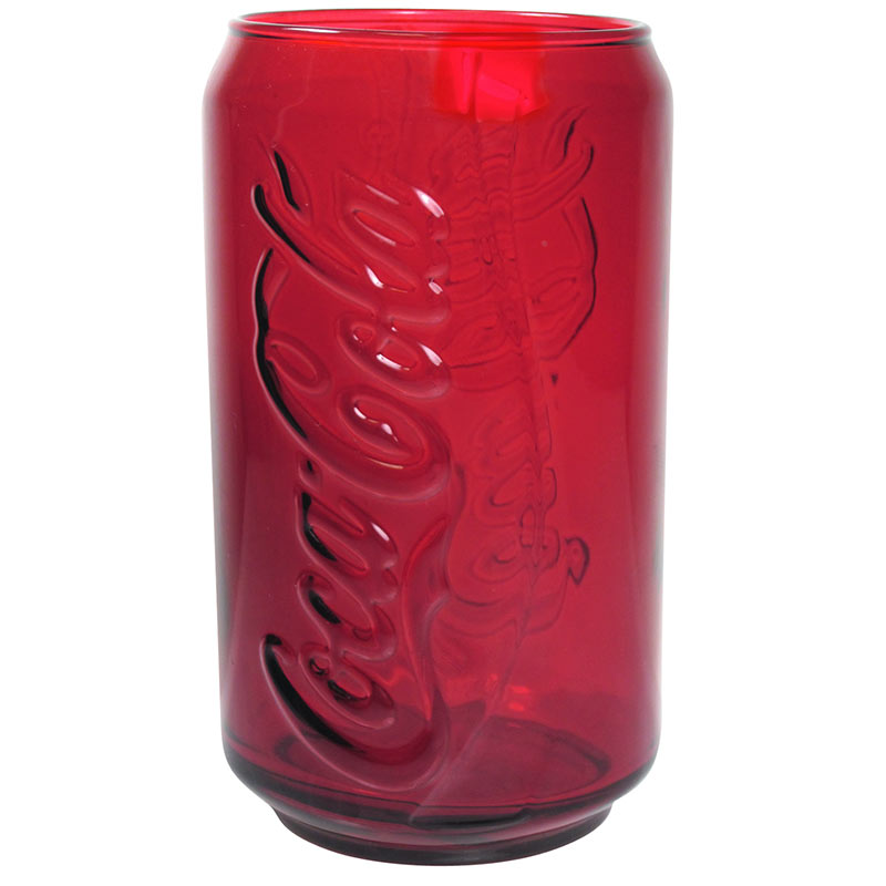 Coca-Cola Red Embossed Soda Can Drinking Glass
