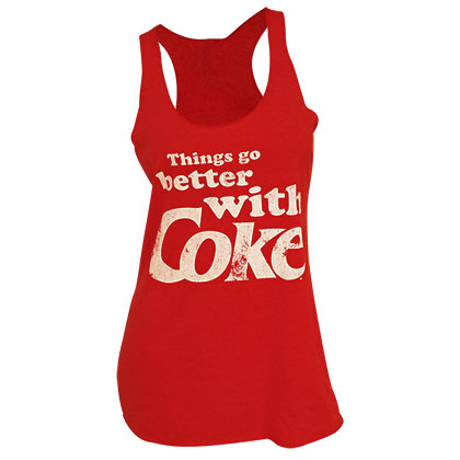 Coca-Cola Things Go Better With Coke Red Women's Tank Top