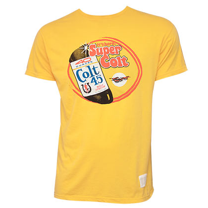 Colt 45 Retro Brand Yellow Super Colt T-shirt